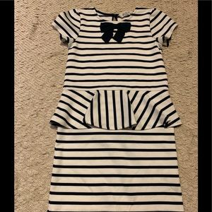 H&M girls striped dress